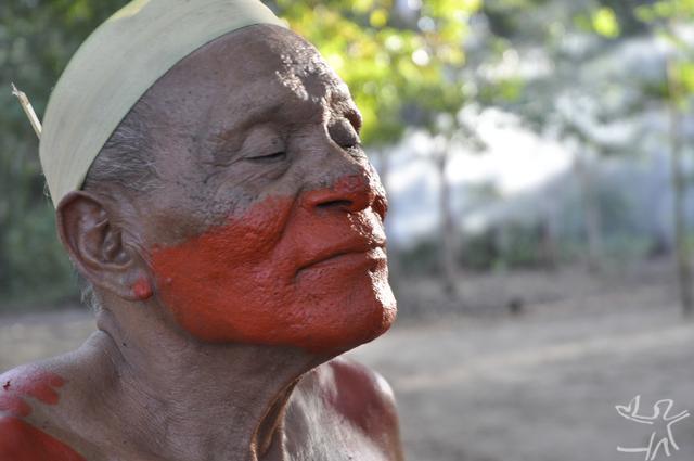 Kokrenum, também conhecido como capitão. Ele é o líder sobrevivente do primeiro grupo Gavião, contatado em 1957. TI Mãe Maria, Bom Jesus do Tocantins. Foto: Vincent Carelli/Vídeo nas Aldeias, 2010.