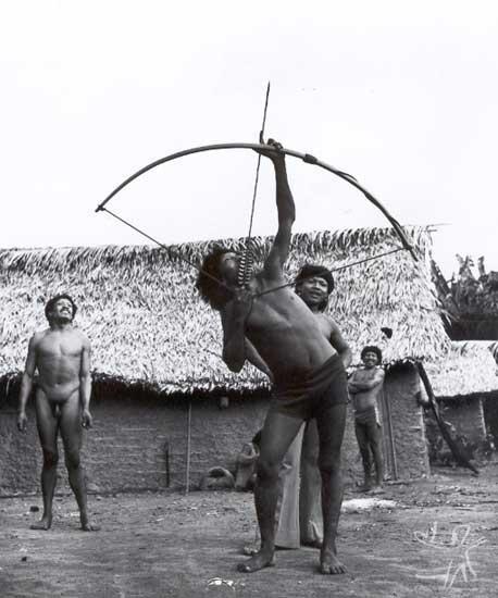 Arco e flecha araweté. Foto: Eduardo Viveiros de Castro