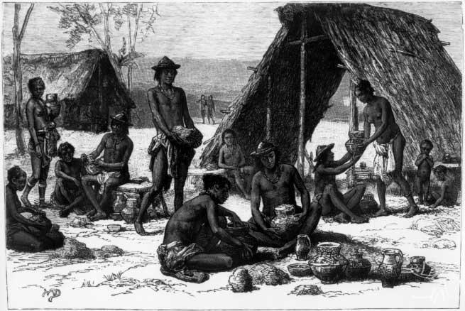Gravura de Juls Nicolas Crevaux. Voyage dans l'Amerique de Sud, 1883
