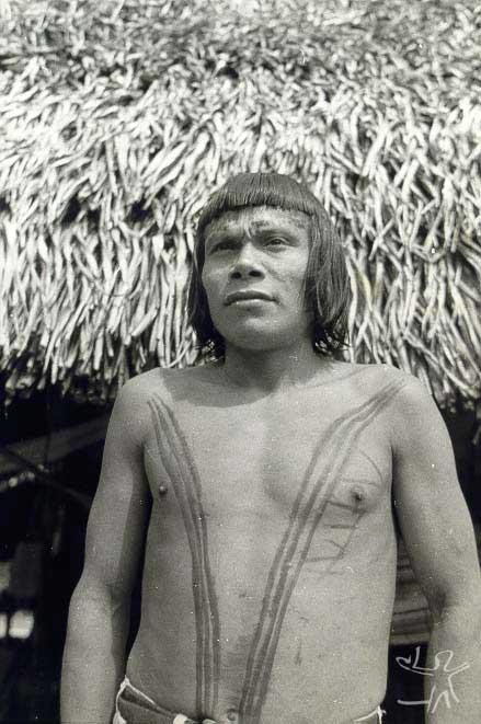 O líder Krohokrenhum. Foto: José Caron, 1961