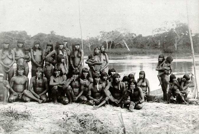 Aldeia de Uariuari. Foto: SPI/IR de Goiás, 1912