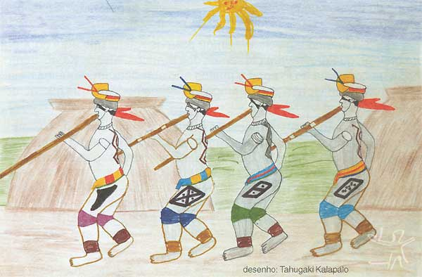 Desenho: Tahugaki Kalapalo, 1998.