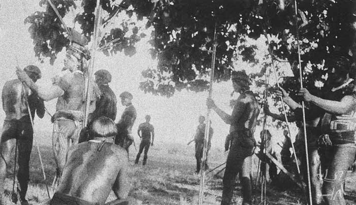 O ritual do Jawari. Foto: Carmen Junqueira, 1972.