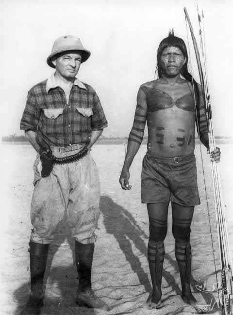 Cacique Karajá Wataú, Aldeia de Santa Isabel do Morro. Foto: Museu do Índio/s.d.