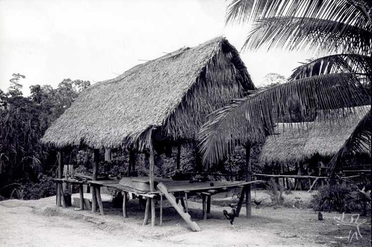 Habitação kaxinawá. Foto: Terri Vale de Aquino, 1981.