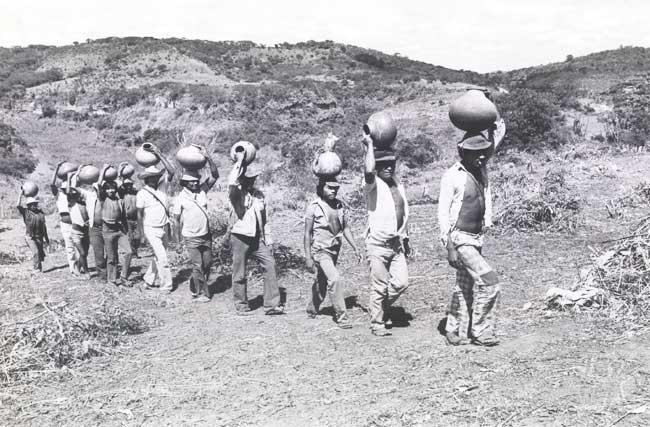 Kiriri durante tomada da fazenda Picos. Foto: Gildo Lima, 1983