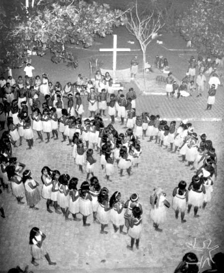 Kiriri durante ritual do Toré. Foto: Walter Carvalho, década de 80.