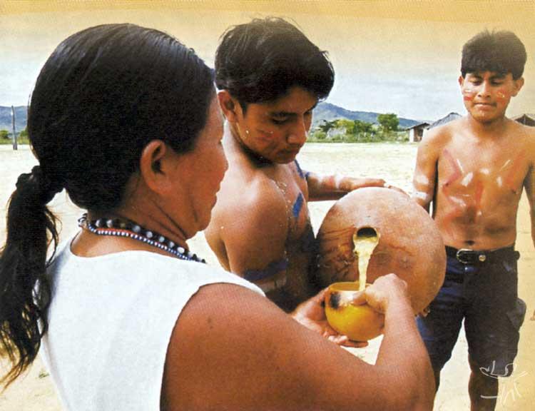 Imagem extraída do folheto de divulgação do evento Makunaima Vive na Raposa Serra do Sol, ocorrido em Brasília em novembro de 2004. Foto: acervo Conselho Indígena de Roraima.
