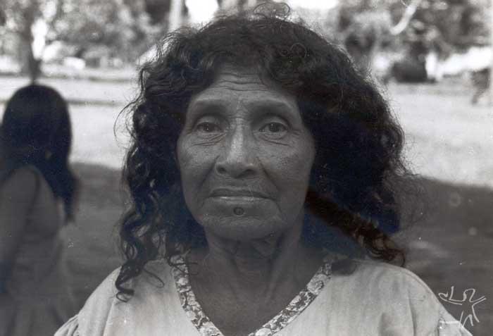 Mulher munduruku com orifício labial. Foto: Protassio Frikel, década de 1950.
