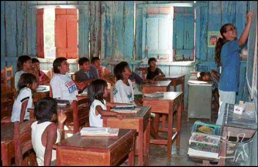 Escola Aldeia Lapetanha. Foto: Rogério Vargas Motta, 2000.