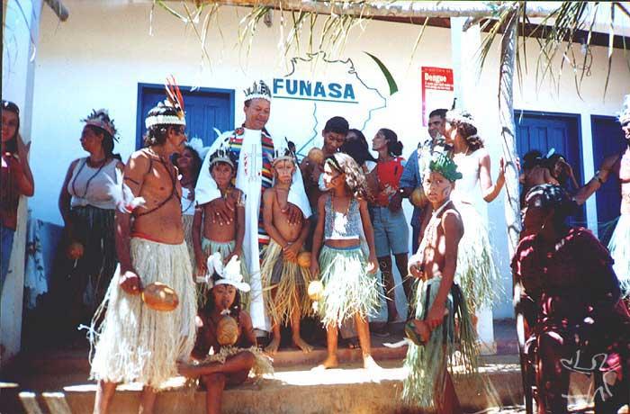 Comunidade Pankaru. Foto: Padre Manuel Bonfim da Conceição, final da década de 1990.
