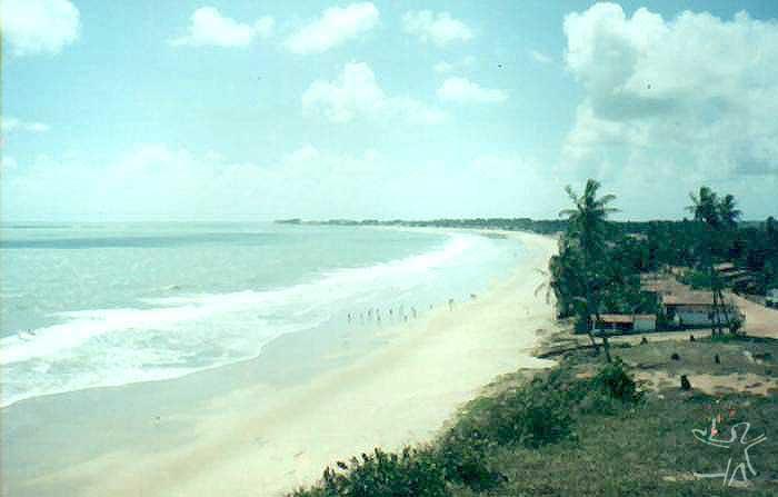 Vista parcial da cidade de Baía da Traição. Foto: Glebson Vieira, 2001.