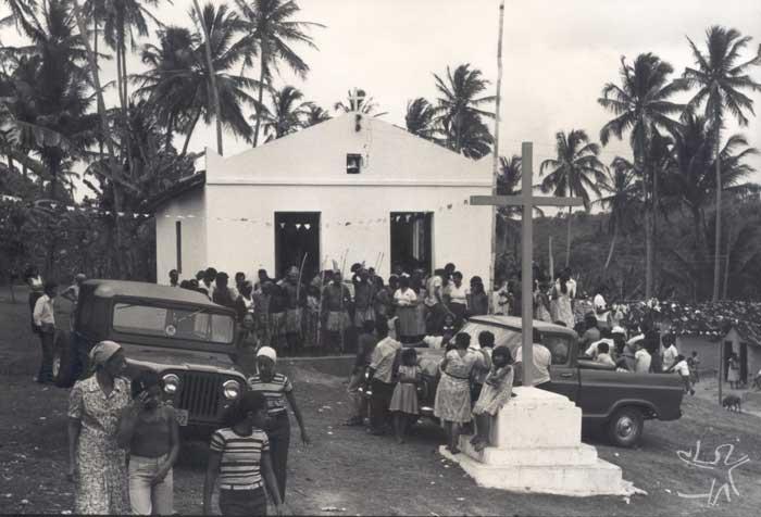 Festa na Baía da Traição por ocasião da demarcação da TI Potyguara. Foto: Tiuré, 1981.