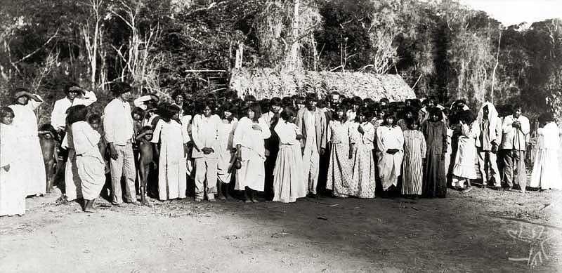 Volta do inspetor Mandacaru à aldeia Tapirapé. Foto: acervo SPI, 1912.