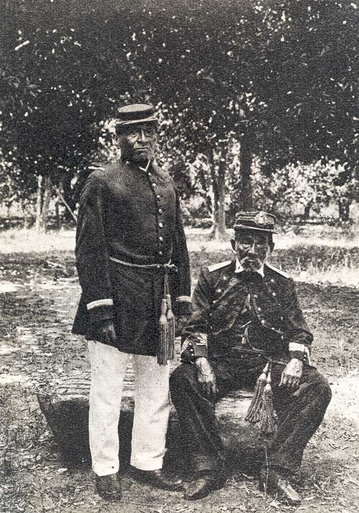 Terena que lutaram na guerra do Paraguai. Foto: acervo da Comissão Rondon, s/d.