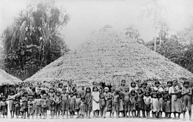 Maloca Pêrêtê no Igarapé Preto, Amazonas. Foto: Museu do Índio/Relatório IR-1/SPIc , 1930/31