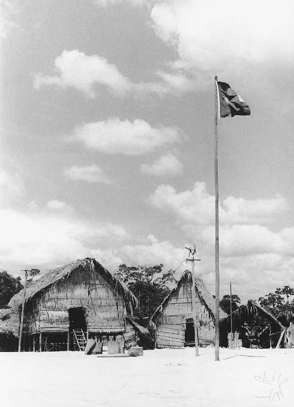Aldeia da Missão Tiriyó. Foto: Acervo ISA, 1969.