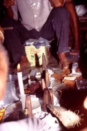 Mesa de toré. Foto: Ugo Maia, 2001.