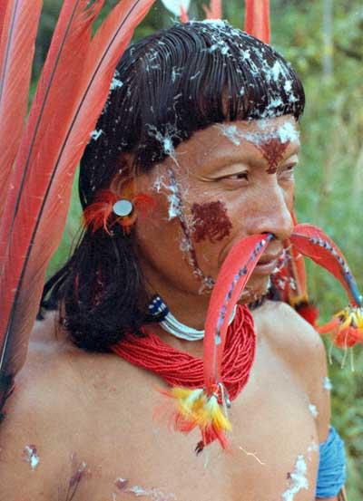 Foto: Pastor da aldeia de Kaxmi, Rio Novo, P.I. Anauá Célio Horst,1979