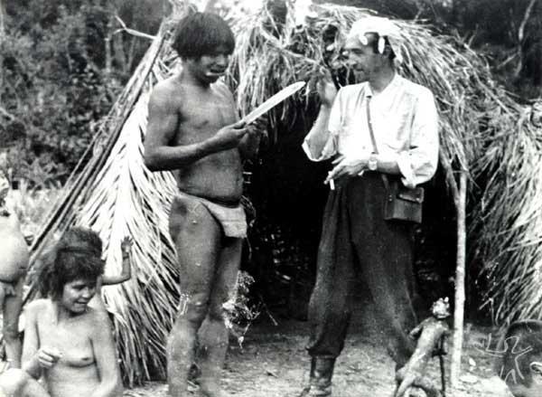 Segunda Expedição aos Xetá. Antropólogo José Loureiro Fernandes. Foto: Museu Paranaense, 1952