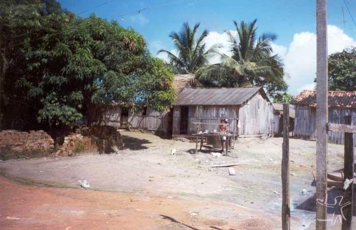 Bairro de São Sebastião, em Altamira. Foto: Marlinda Melo Patrício, 1999.