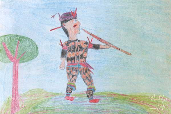Desenho: Karin Yudjá, 1998.