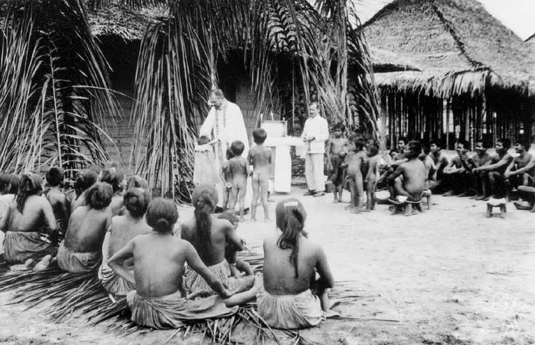 Os missionários salesianos chegaram ao Alto Rio Negro em 1914. Foto: Arquivo da Diocese de S. Gabriel da Cachoeira.