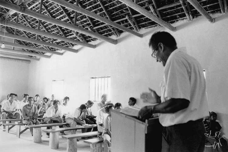 Culto dominical na Comunidade Panã-panã, no Alto Içana. Foto: Beto Ricardo, 1998