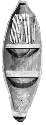 Nas trocas intercomunitárias, são exemplos de especializações o banco tukano, o ralador de mandioca baniwa, o aturá maku e a canoa tuyuka.