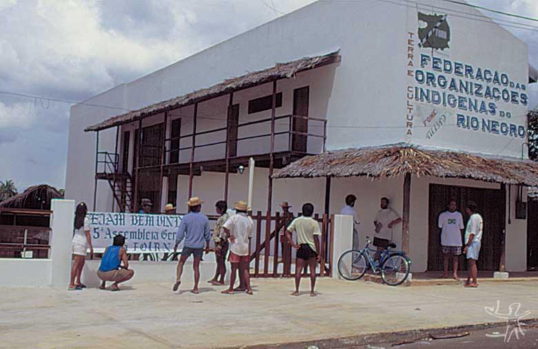 Sede da Foirn em São Gabriel da Cachoeira. Foto: Beto Ricardo, 1997.