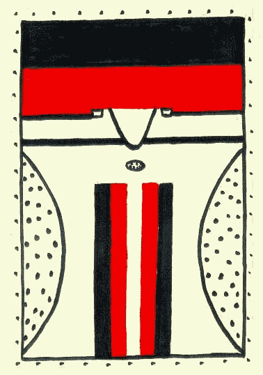 Papa: um dos componentes do ritual Yakuygâde. Desenho: Odil Apacano