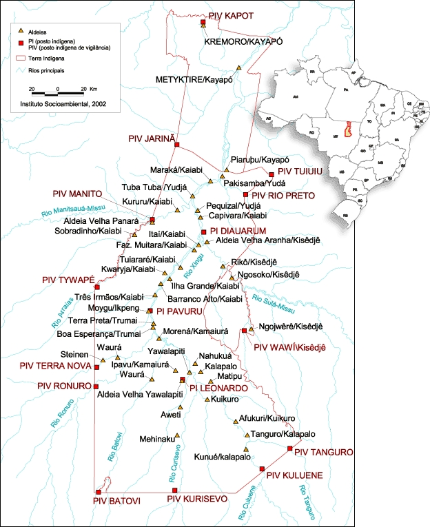 Mapa: Instituto Socioambiental/ISA, 2002