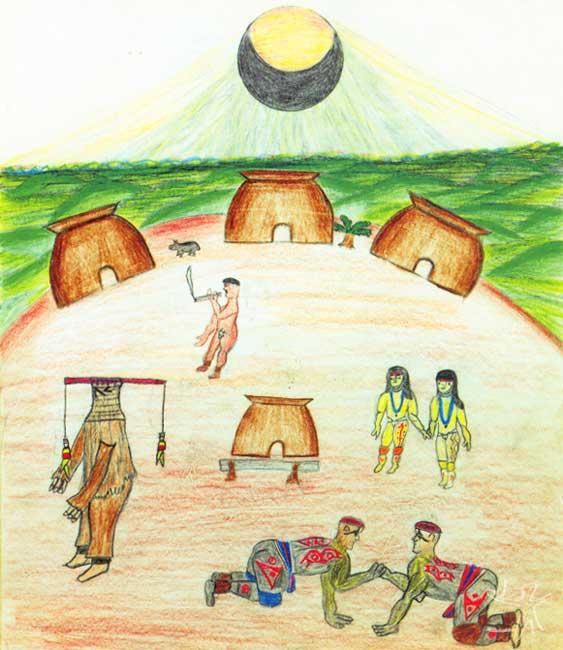 Desenho: Makaulaka Mehinaku, 1998