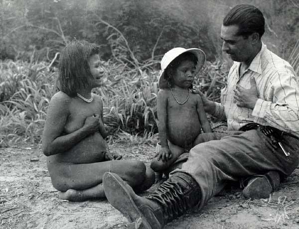Segunda Expedição aos Xetá, organizada pelo antropólogo José Loureiro Fernandes. Foto: Museu Paranaense, 1952