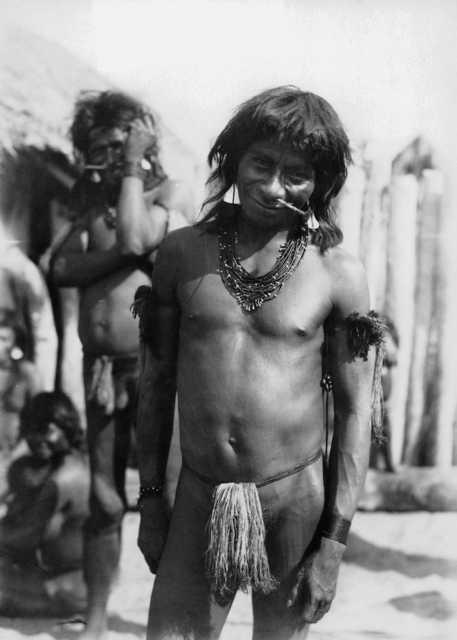 Comissão Rondon - Chiquinho Nambikwara, um estimado habitué da Estação José Bonifácio. Foto: Museu do Índio, 1900/1920