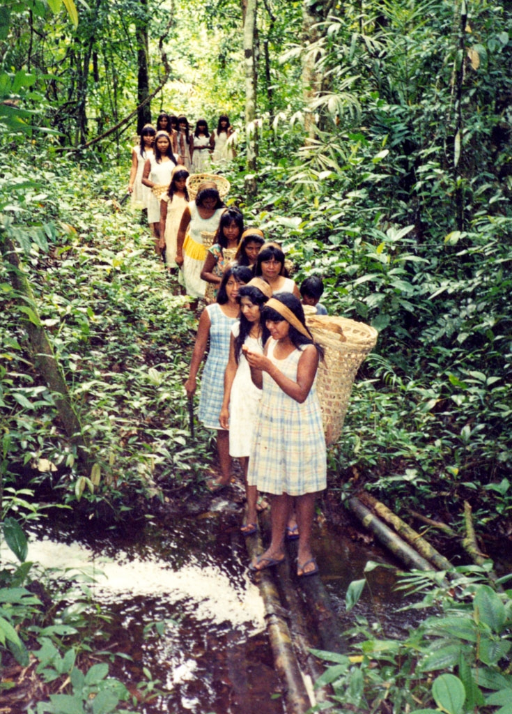 Mamaindê women going to the swidden. photo: Joana Miller