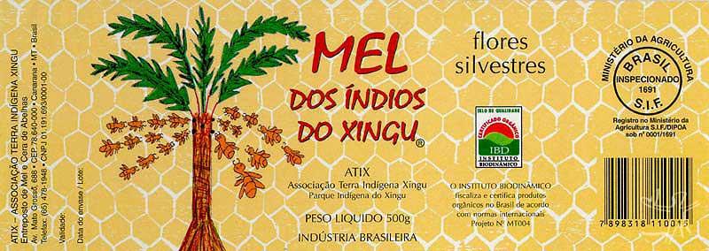 Rótulo do mel comercializado pela Atix.