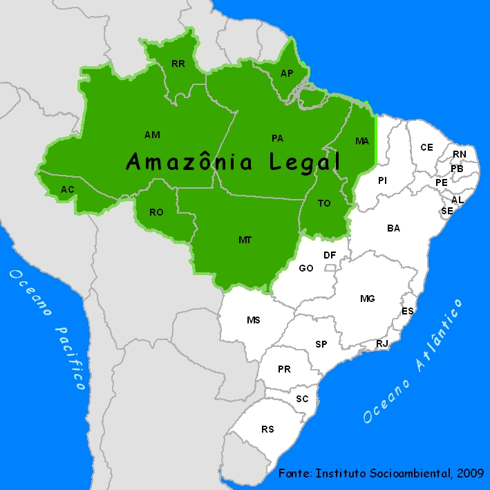 Amazônia Legal. Instituto Socioambiental, 2009