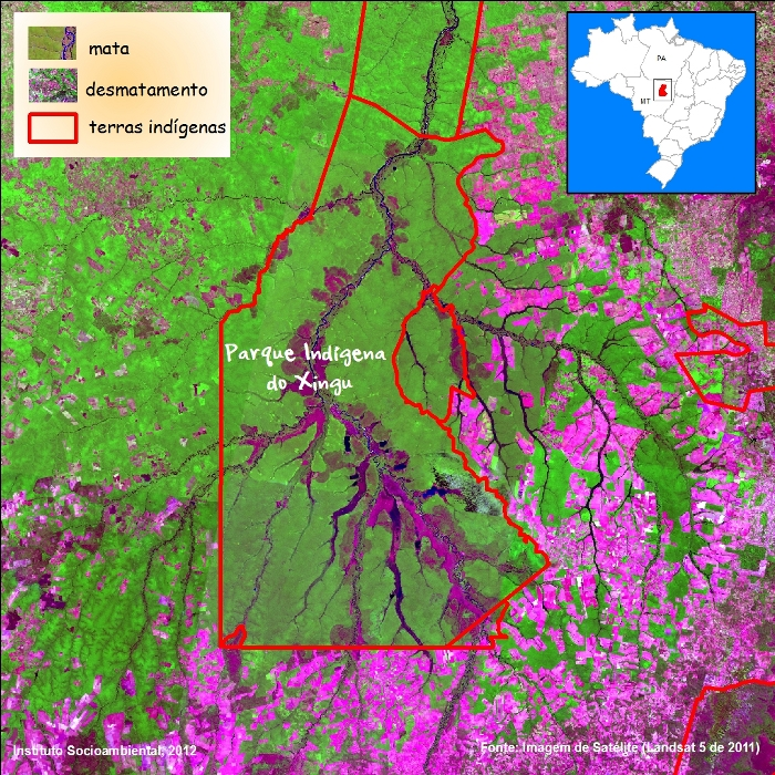 Imagem de Satélite (Landsat 5 de 2011).