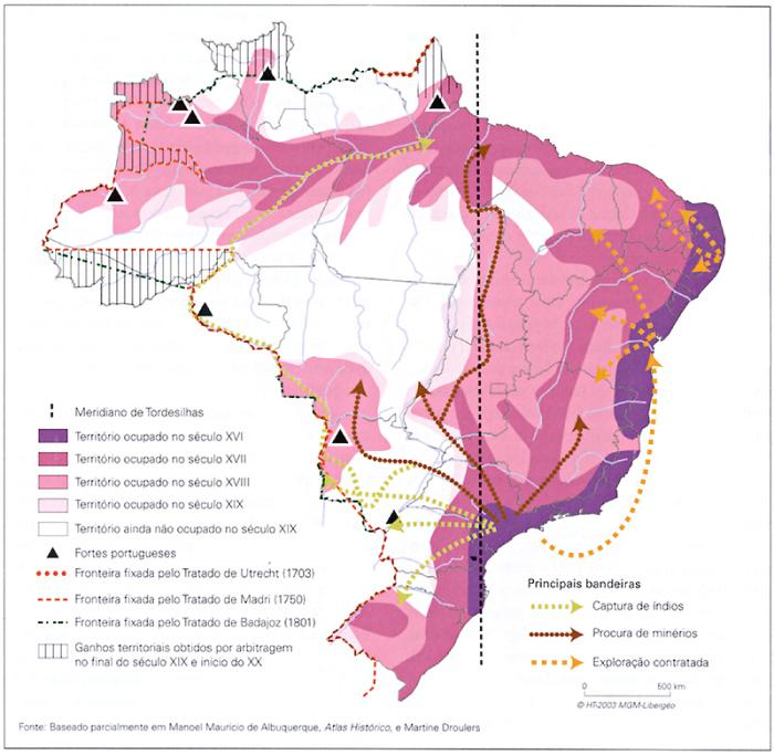 Source: Atlas do Brasil - disparidades e dinâmicas do território. Hervé Théry Neli e Aparecida de Mello. São Paulo: Editora da Universidade de São Paulo, 2005.