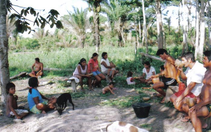 Chichada. Aldeia Ricardo Franco, Terra Indígena Rio Guaporé. Foto: Nicole Soares Pinto, 2008