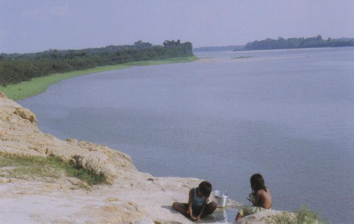 Vista Guaporé, tempo da seca. Aldeia Ricardo Franco, Terra Indígena Rio Guaporé. Foto: Nicole Soares Pinto, 2008