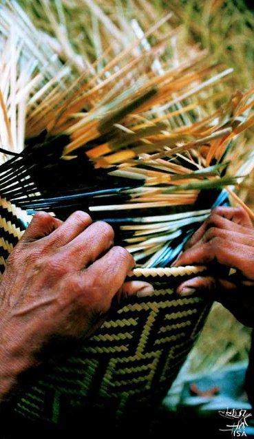Cestaria de arumã baniwa. Foto: Beto Ricardo, 2000