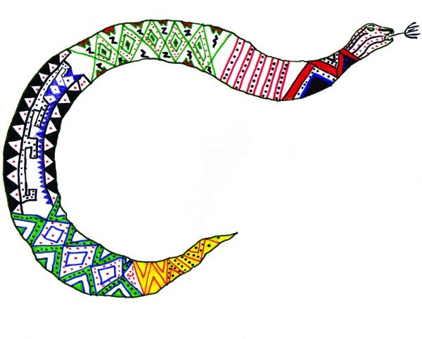 Cobra Marmarwimë. Desenho: Adão Makarak'wa, 2005