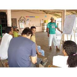 REBIO Piratuba / AP - Reunião TC Tabaco 2: Diagnóstico das atividades produtivas realizadas pela comunidade do Tabaco, localizada no interior da Rebio do Lago Piratuba (2007). 2006  / Patrícia Pinha/ICMBio