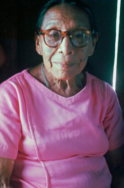 Sra Isaura Antimá. Foto: Delvair Montagner Melatti, 1977. Acervo CPI-AC.