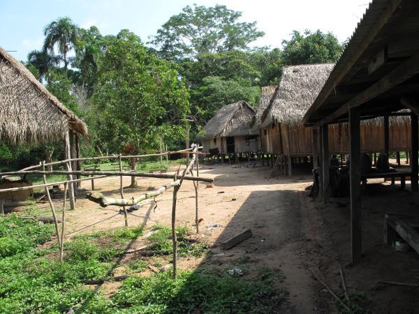Casas contemporâneas, Posto Indígena São Luís. Foto: Joshua Birchall, 2009.