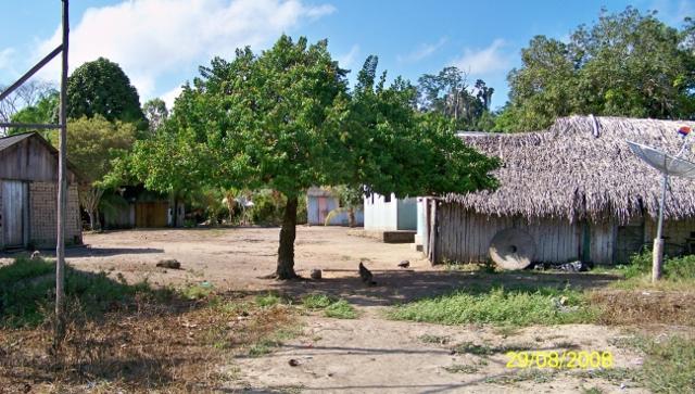 Entrada aldeia Wangã TI Arara da VGX. Foto: Michel Patrício, 2008.