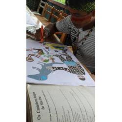 Txanu desenhando huni meka no I Encontro de Artistas-Desenhistas Huni Kuin Terra Indígena Kaxinawa do Rio Jordão, 2011