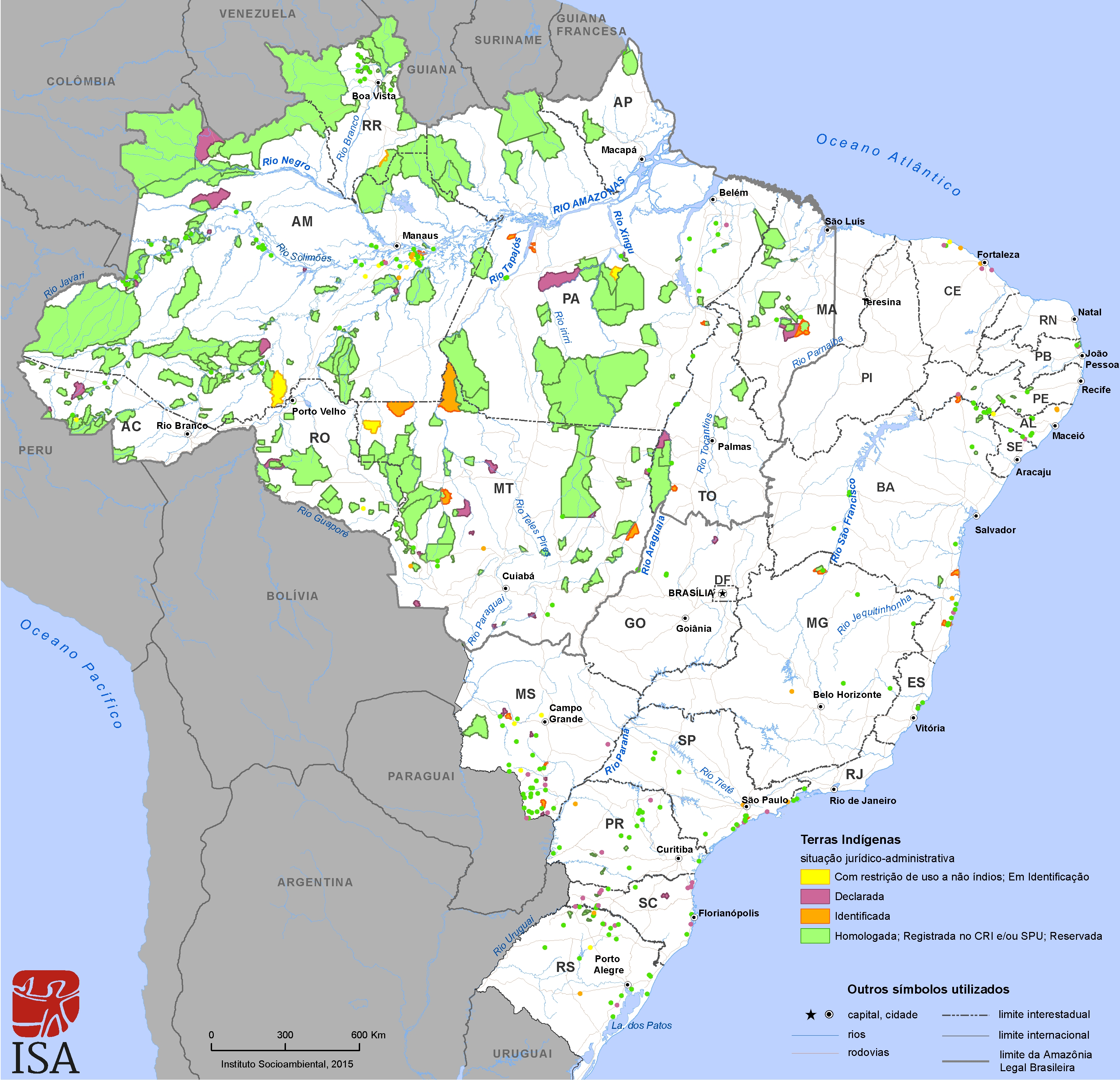 Location and extension of Indigenous Lands - Indigenous Peoples in ...